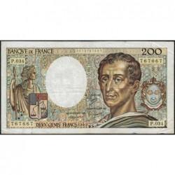 F 70-05 - 1985 - 200 francs - Montesquieu - Série P.034 - Etat : TB