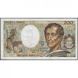 F 70-05 - 1985 - 200 francs - Montesquieu - Série E.035 - Etat : TTB-