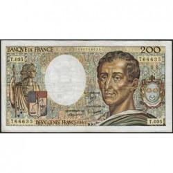F 70-05 - 1985 - 200 francs - Montesquieu - Série T.035 - Etat : TB-