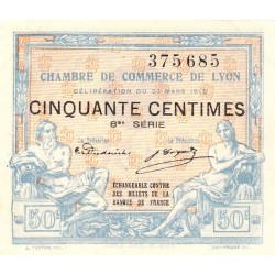 Lyon - Pirot 77-16 - 50 centimes - 8me série - 27/03/1918 - Etat : SUP+