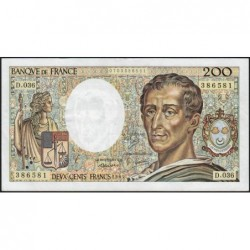 F 70-05 - 1985 - 200 francs - Montesquieu - Série D.036 - Etat : TTB+