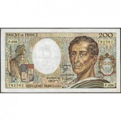 F 70-05 - 1985 - 200 francs - Montesquieu - Série P.036 - Etat : TB-