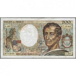 F 70-05 - 1985 - 200 francs - Montesquieu - Série A.037 - Etat : B+