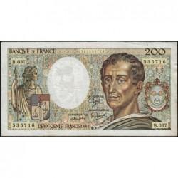 F 70-05 - 1985 - 200 francs - Montesquieu - Série B.037 - Etat : TB-