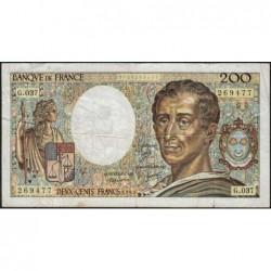 F 70-05 - 1985 - 200 francs - Montesquieu - Série G.037 - Etat : B+