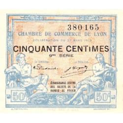 Lyon - Pirot 77-16 - 50 centimes - 9me série - 27/03/1918 - Etat : SPL