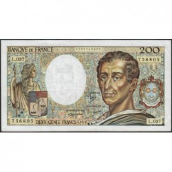 F 70-05 - 1985 - 200 francs - Montesquieu - Série L.037 - Etat : TB+