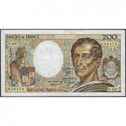 F 70-05 - 1985 - 200 francs - Montesquieu - Série V.037 - Etat : TB