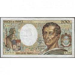 F 70-06 - 1986 - 200 francs - Montesquieu - Série H.038 - Etat : TB-