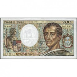 F 70-06 - 1986 - 200 francs - Montesquieu - Série U.038 - Etat : TTB-