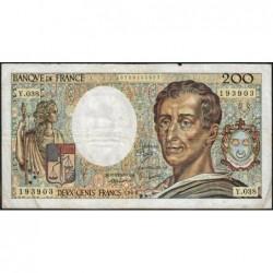 F 70-06 - 1986 - 200 francs - Montesquieu - Série Y.038 - Etat : TB-