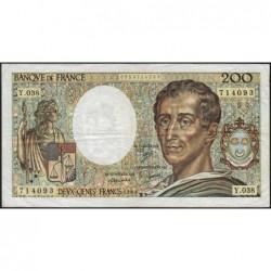 F 70-06 - 1986 - 200 francs - Montesquieu - Série Y.038 - Etat : TB