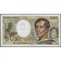 F 70-06 - 1986 - 200 francs - Montesquieu - Série R.039 - Etat : TB-