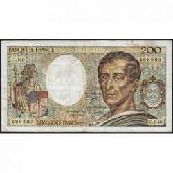 F 70-06 - 1986 - 200 francs - Montesquieu - Série C.040 - Etat : TB-