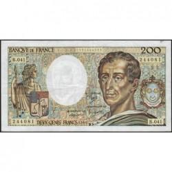 F 70-06 - 1986 - 200 francs - Montesquieu - Série B.041 - Etat : TTB