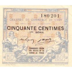 Lyon - Pirot 77-18 - 50 centimes - 10me série - 16/10/1919 - Etat : SUP+
