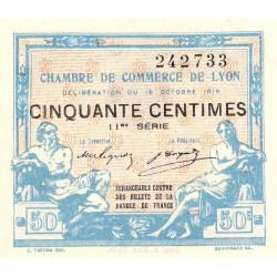 Lyon - Pirot 77-18 - 50 centimes - 11me série - 16/10/1919 - Etat : SUP+