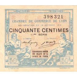 Lyon - Pirot 77-18 - 50 centimes - 11ème série - 1919 - Etat : TTB