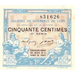 Lyon - Pirot 77-18 - 50 centimes - 12e série - 16/10/1919 - Etat : SUP+