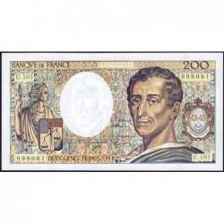 F 70bis-01 - 1992 - 200 francs - Montesquieu - Série U.101 - Etat : NEUF