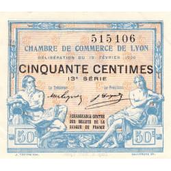 Lyon - Pirot 77-20 - 50 centimes - 13ème série - 1920 - Etat : SUP+