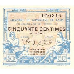 Lyon - Pirot 77-20 - 50 centimes - 14e série - 19/02/1920 - Etat : SUP+