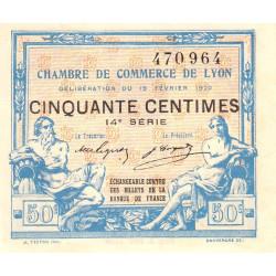 Lyon - Pirot 77-20 - 50 centimes - 14e série - 19/02/1920 - Etat : SPL+