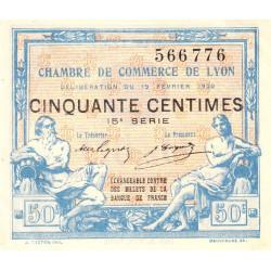 Lyon - Pirot 77-20 - 50 centimes - 15ème série - 1920 - Etat : SUP+