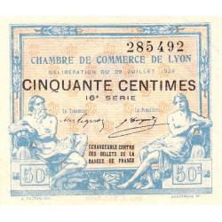 Lyon - Pirot 77-22 - 50 centimes - 16ème série - 1920 - Etat : SUP+