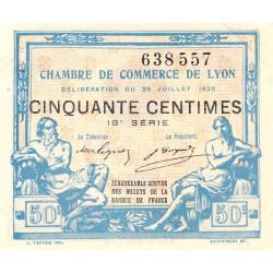 Lyon - Pirot 77-22 - 50 centimes - 18ème série - 1920 - Etat : SUP+