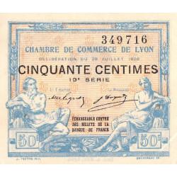Lyon - Pirot 77-22 - 50 centimes - 19e série - 29/07/1920 - Etat : SUP+