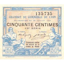 Lyon - Pirot 77-22 - 50 centimes - 23e série - 29/07/1920 - Etat : SUP+