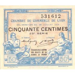 Lyon - Pirot 77-22 - 50 centimes - 23ème série - 1920 - Etat : NEUF