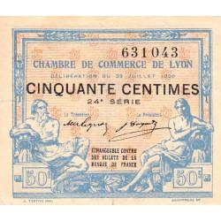 Lyon - Pirot 77-22 - 50 centimes - 24e série - 29/07/1920 - Etat : TTB+