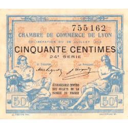 Lyon - Pirot 77-22 - 50 centimes - 24ème série - 1920 - Etat : SUP