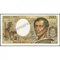 F 70-01 - 1981 - Faux 200 francs - Montesquieu - Série B.095 - Etat : TTB+