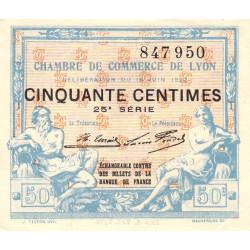 Lyon - Pirot 77-26 - 50 centimes - 25ème série - 1922 - Etat : SUP+