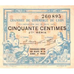 Lyon - Pirot 77-26 - 50 centimes - 27ème série - 1922 - Etat : SUP+