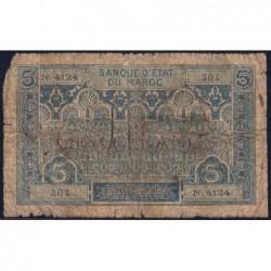 Maroc - Pick 9_5 - 5 francs - Série N.4068 - 1941 - Etat : AB