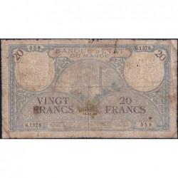 Maroc - Pick 18b_1 - 20 francs - Série G.1378- 14/11/1941 - Etat : AB