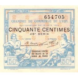 Lyon - Pirot 77-26 - 50 centimes - 28ème série - 1922 - Etat : TTB+