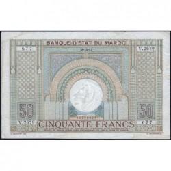 Maroc - Pick 21_4 - 50 francs - Série V.2679 - 28/10/1947 - Etat : TTB-