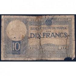 Maroc - Pick 17b - 10 francs - Série P.1733 - 06/03/1941 - Etat : AB