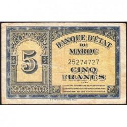 Maroc - Pick 24_2 - 5 francs - 01/03/1944 - Etat : TB+