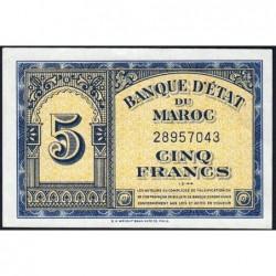 Maroc - Pick 24_2 - 5 francs - 01/03/1944 - Etat : SUP+