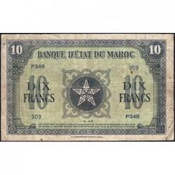 Maroc - Pick 25_1 - 10 francs - Série P348 - 01/05/1943 - Etat : TB