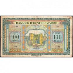 Maroc - Pick 27_1 - 100 francs - Série Z133 - 01/05/1943 - Etat : TB