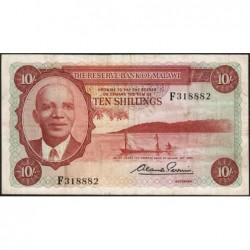 Malawi - Pick 2 - 10 shillings- Série F - 1964 - Etat : TTB