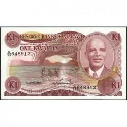 Malawi - Pick 19b - 1 kwacha - Série G/59 - 01/04/1988 - Etat : NEUF