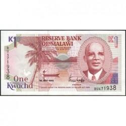 Malawi - Pick 23b - 1 kwacha - Série BU - 01/05/1992 - Etat : NEUF